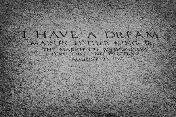 "I have a dream Washington DC, USA - September 30, 2009: An inscription on the floor of the Lincoln Memorial marks the spot from which, in August 1963, Martin Luther King Jr. delivered his ""I Have a Dream"" speech. martin luther king jr stock pictures, royalty-free photos & images"