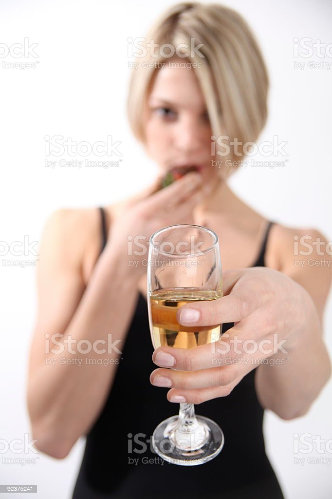 Have a Glass of Champagne royalty-free stock photo