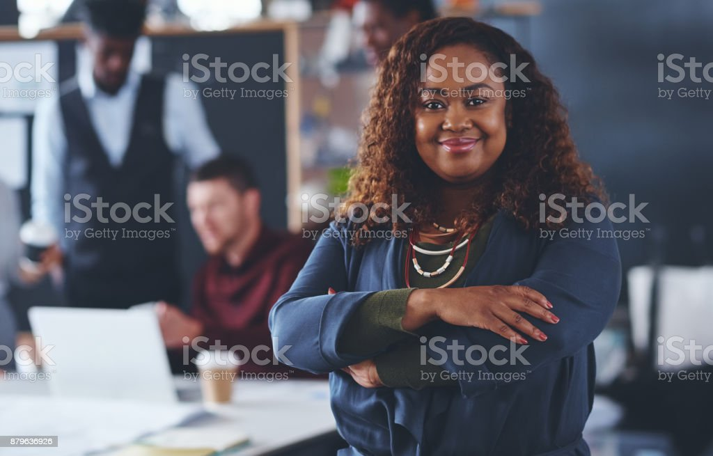 I have a great team behind me stock photo