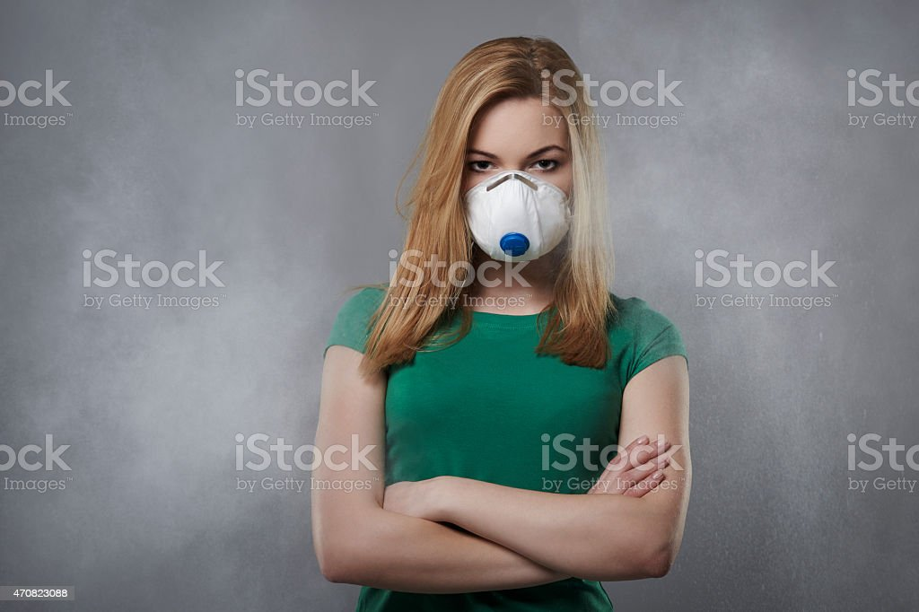 Have a look like air pollution affect for us stock photo