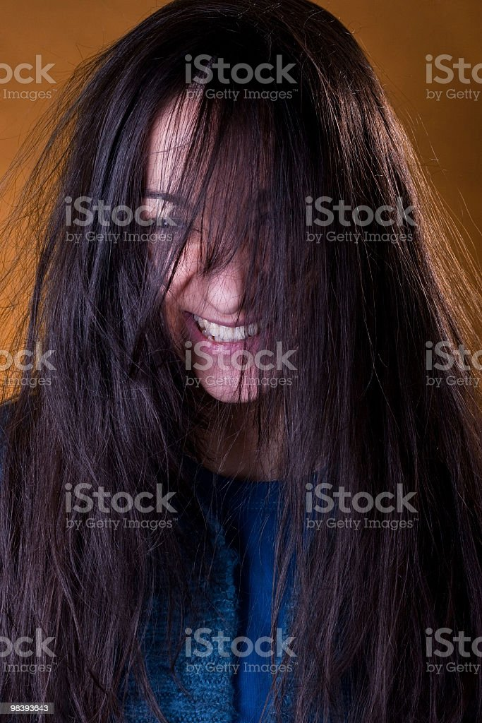 Have a nice, bad hair day royalty-free stock photo