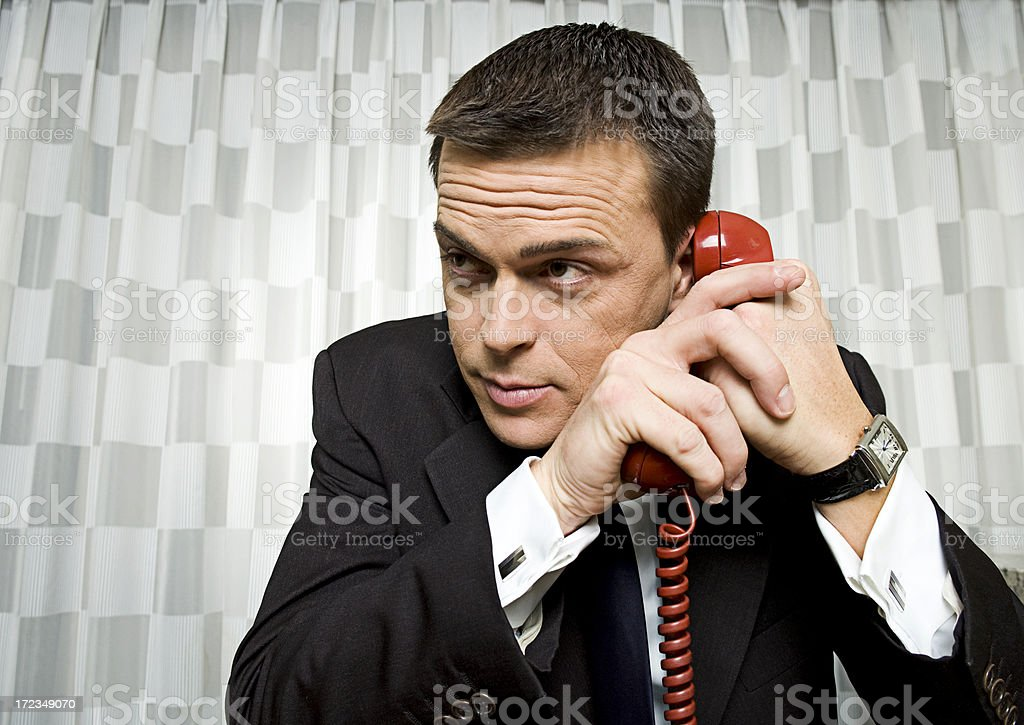 I have a nut on the phone royalty-free stock photo