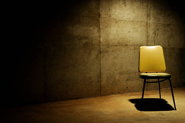 Have a seat--interrogation room stock photo