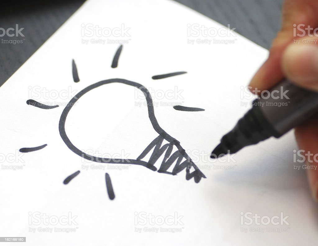 have an idea royalty-free stock photo