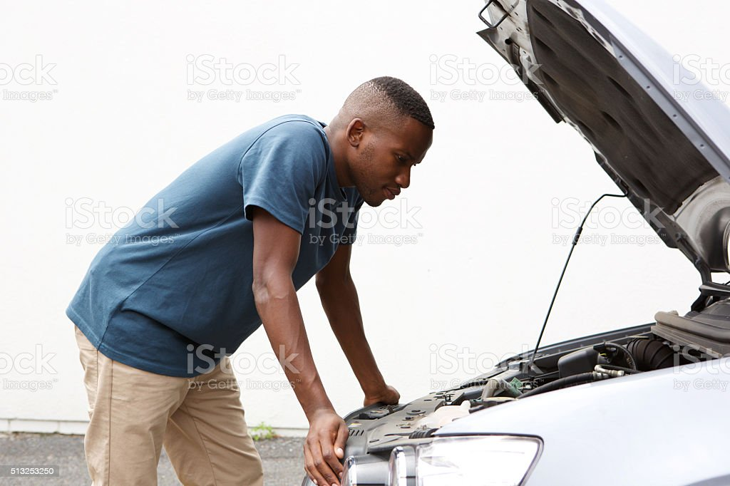 I have car trouble stock photo