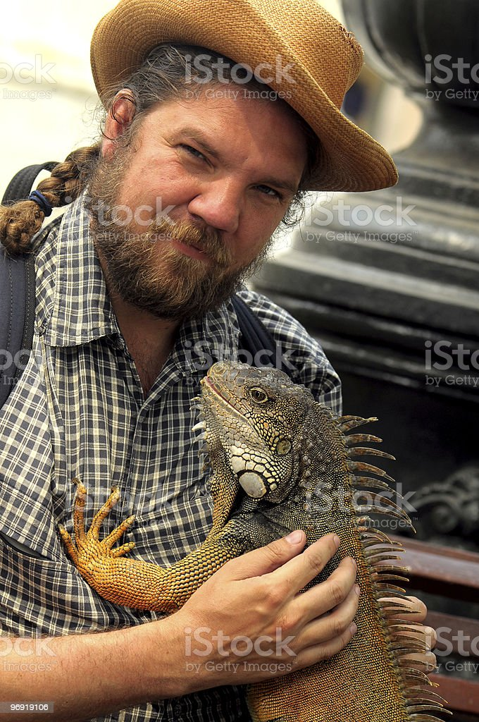 I have got a Iguana! royalty-free stock photo