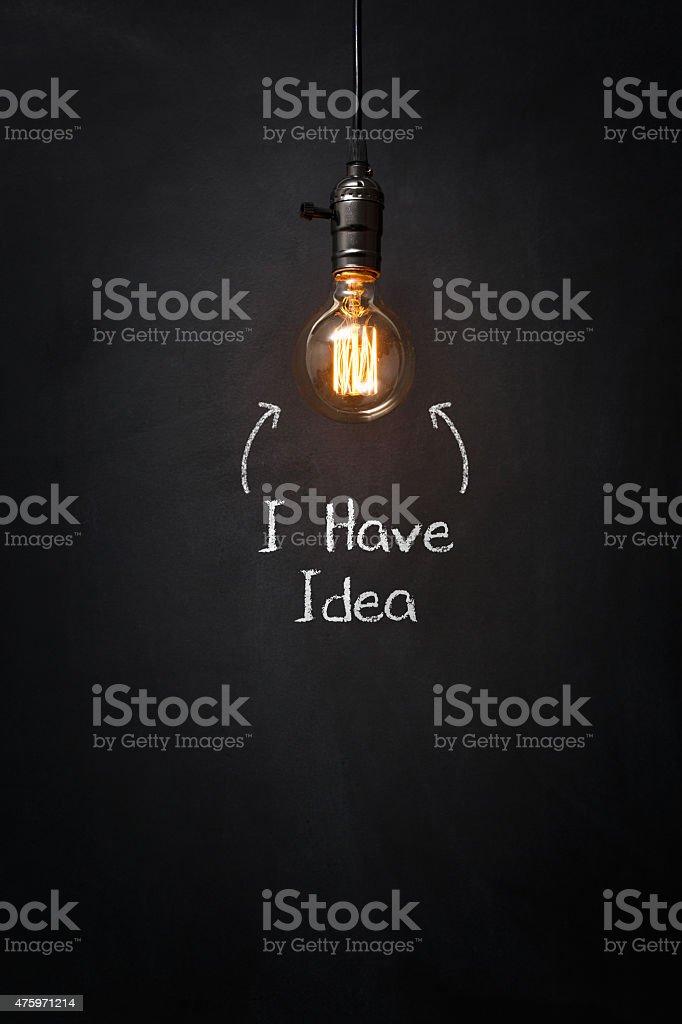 I Have Idea stock photo