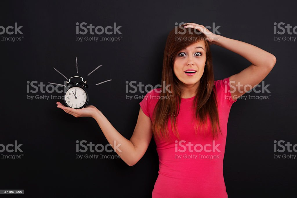 I have only five minutes! royalty-free stock photo
