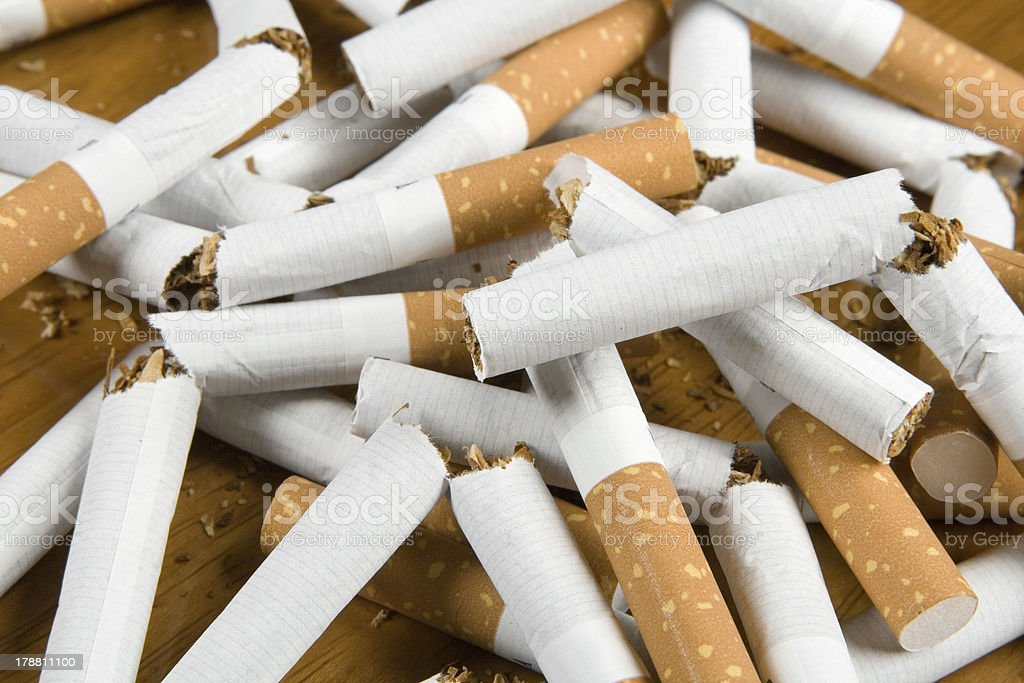 I have stopped to smoke royalty-free stock photo