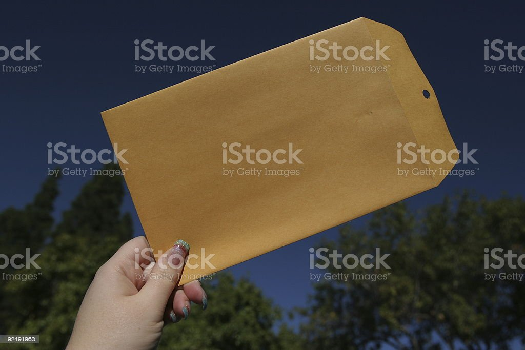 I have the envelope! royalty-free stock photo