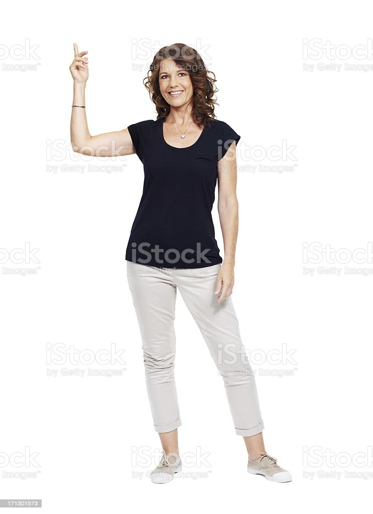 I have the right attitude to sell your product stock photo