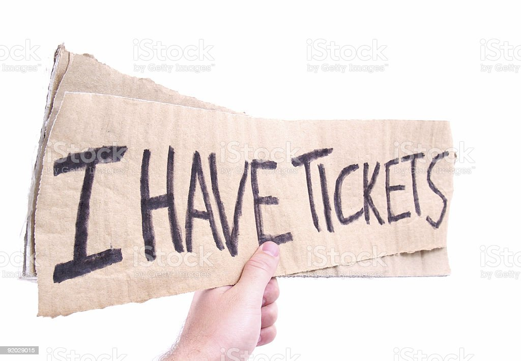 I Have Tickets royalty-free stock photo