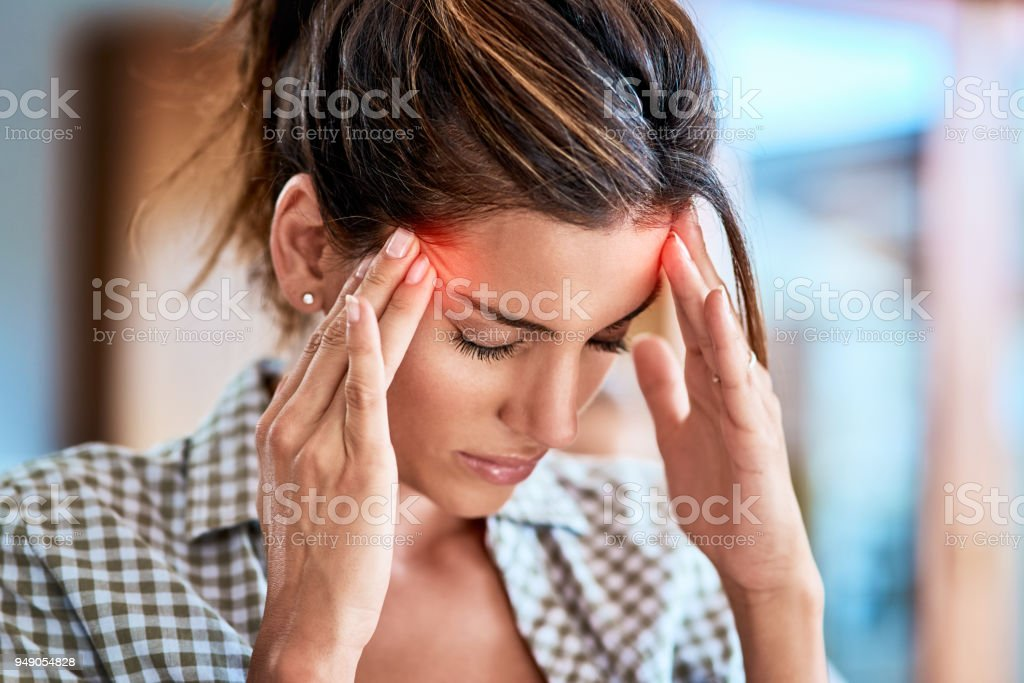 I have to keep away from focusing on the pain stock photo