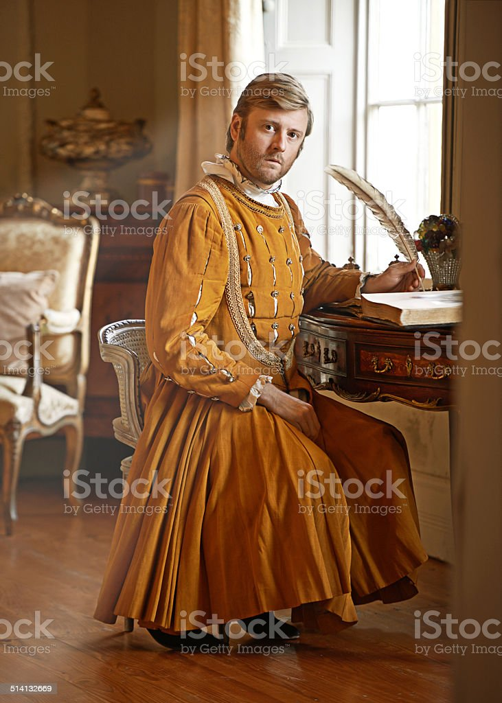 I have urgent correspondence for the the king! stock photo