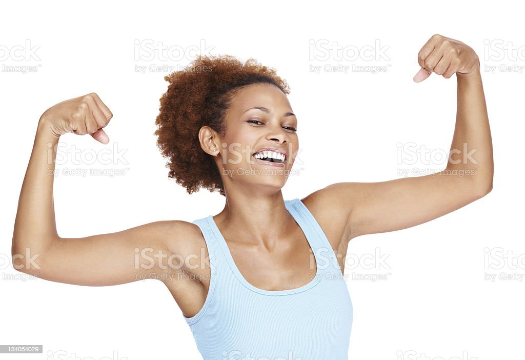 Have you been working out? stock photo