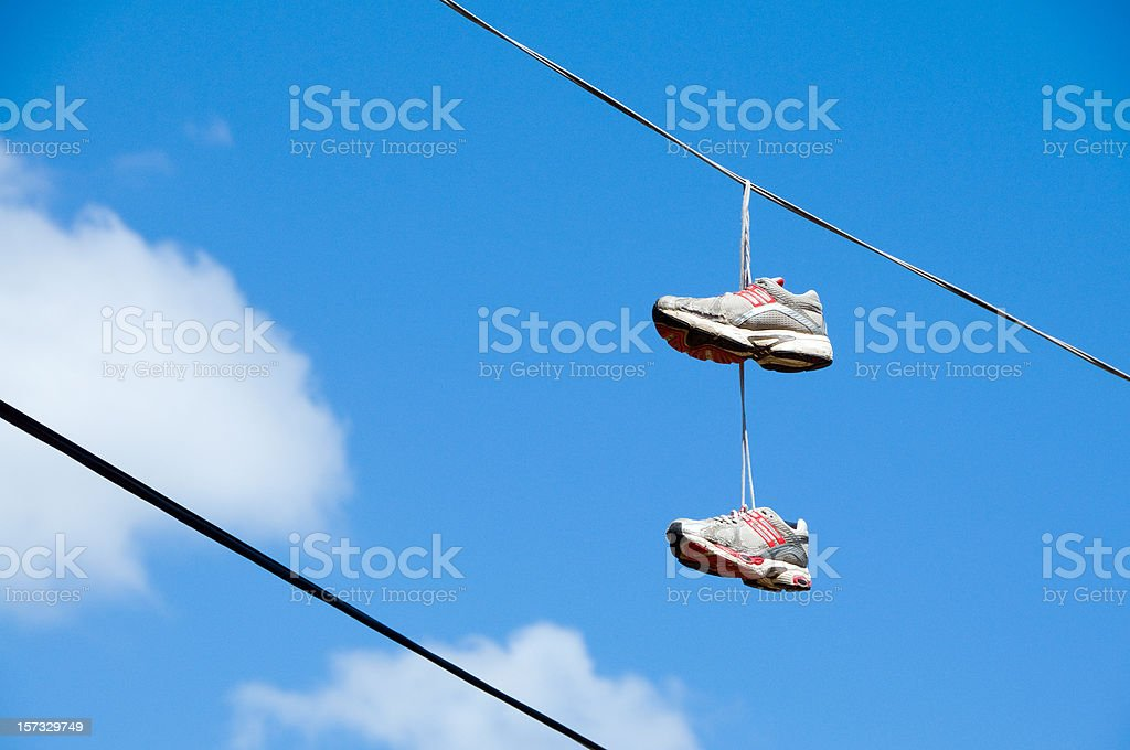 Have you lost any shoes lately? stock photo
