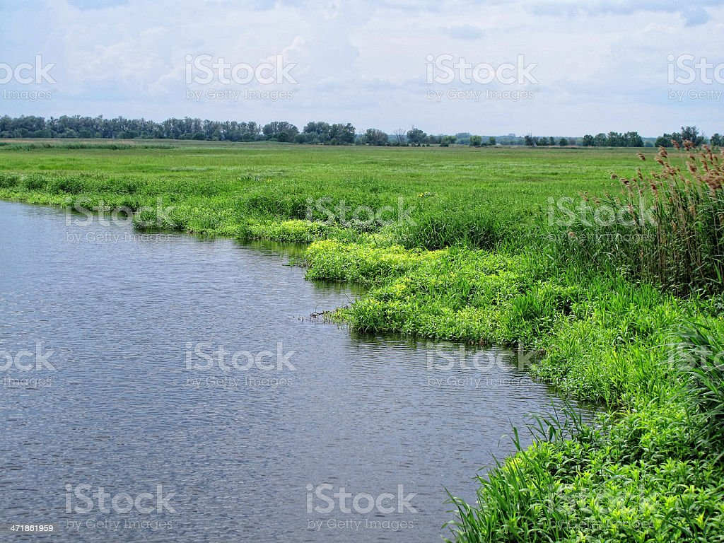 Havel river landscape (Brandenburg) stock photo