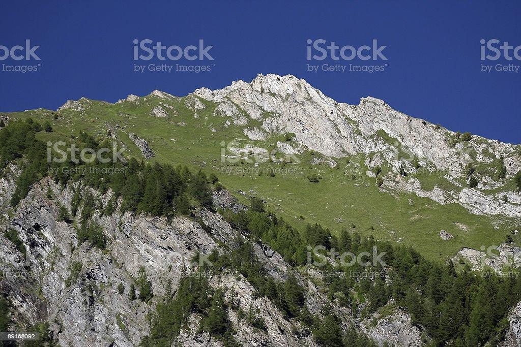 Valle alpino havenly foto de stock libre de derechos