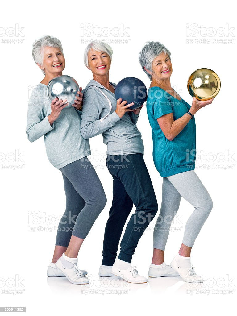 Having a ball in our retirement stock photo