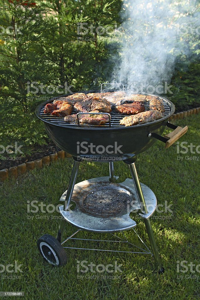 Having a BBQ royalty-free stock photo