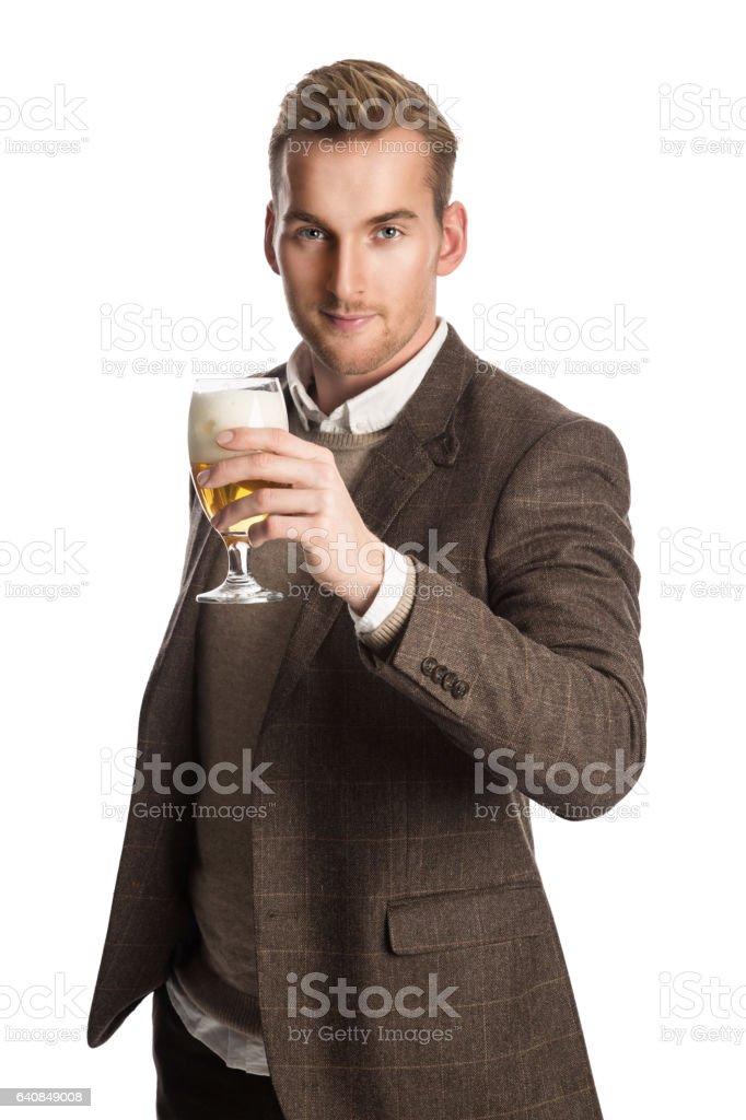Tener una cerveza después del trabajo - foto de stock