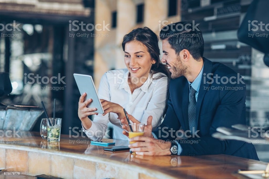 Having a break from business stock photo