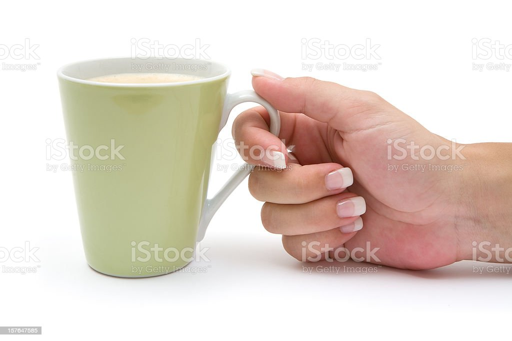 Having a Cup of Coffee royalty-free stock photo