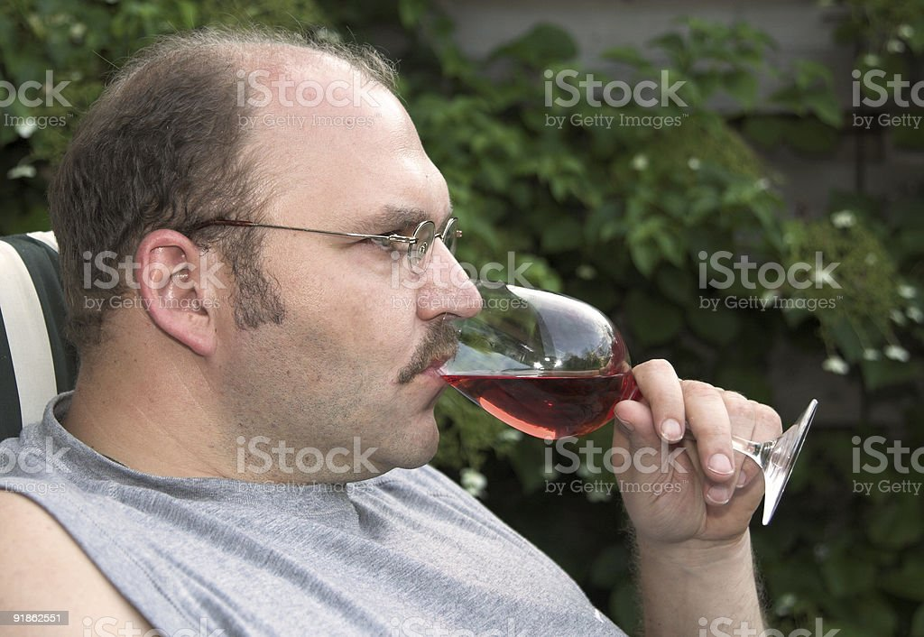 Having a glass of rose royalty-free stock photo