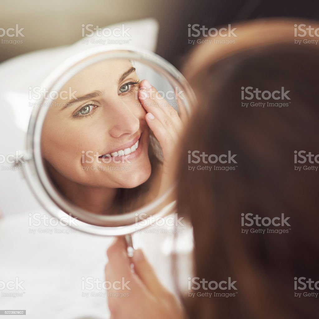 Having a great skin day stock photo