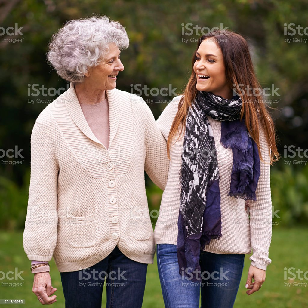 Having a great time with her mom stock photo