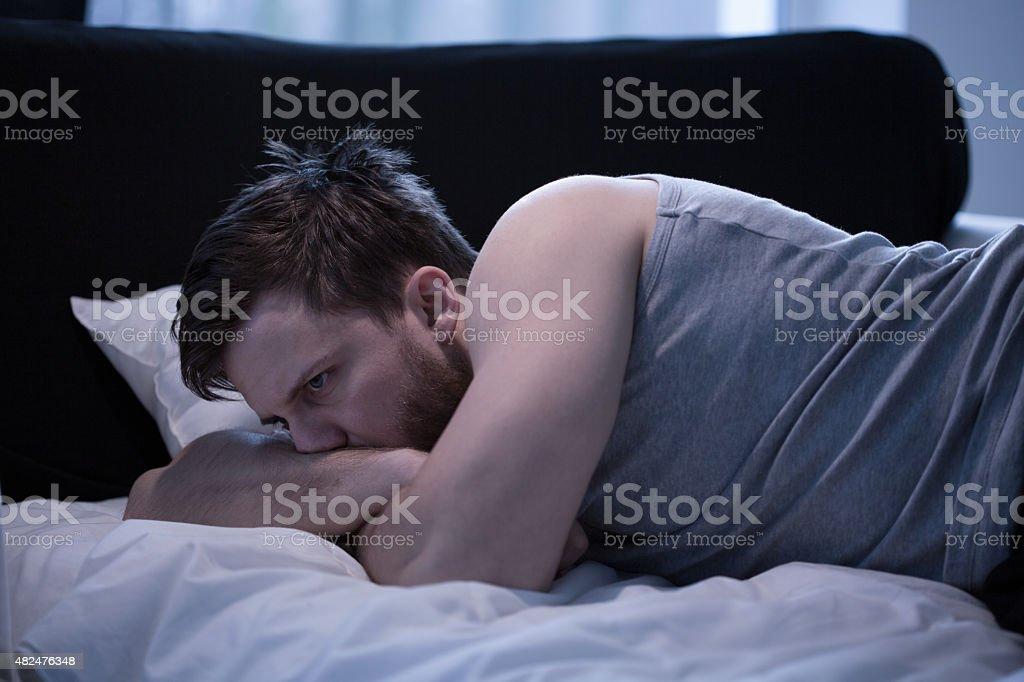 Having a jet lag syndrome stock photo