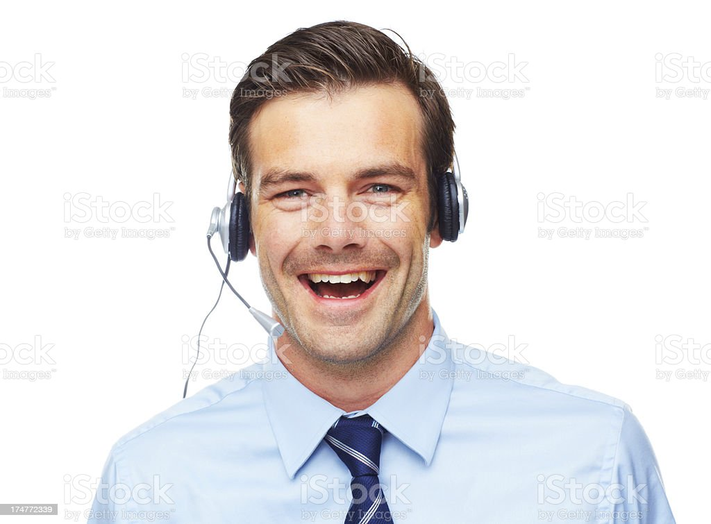 Having a laugh while at work royalty-free stock photo