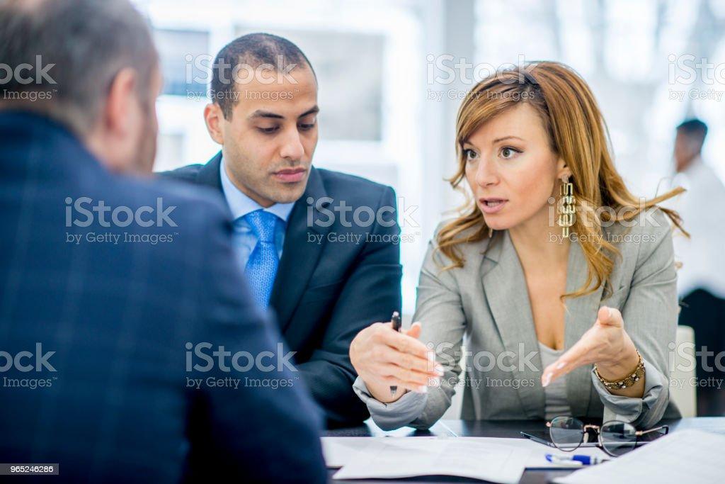 Having A Meeting zbiór zdjęć royalty-free