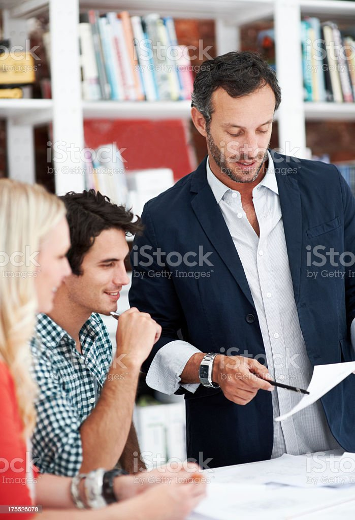 Having a mentor is important for young designers royalty-free stock photo