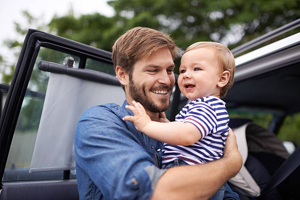 Having a son is every father's dream stock photo