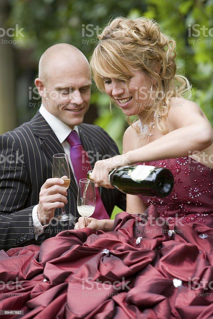 Having a toast royalty-free stock photo