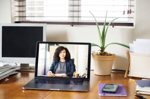 Ein virtuelles Meeting – Foto