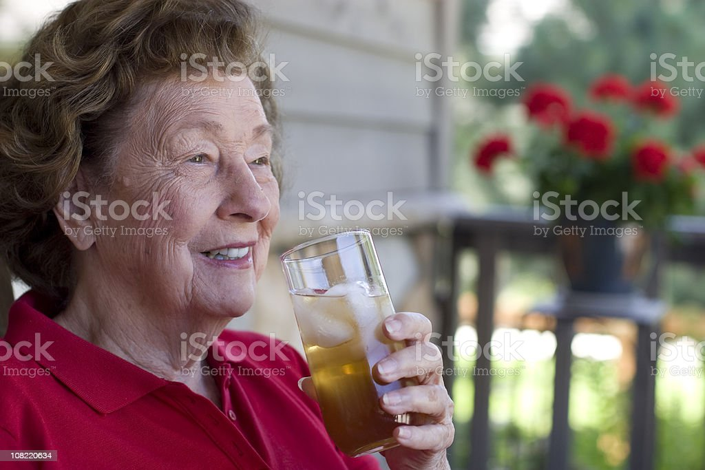 Having an afternoon drink stock photo