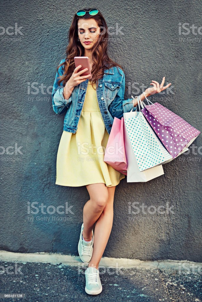Having appsolute fun in the city royalty-free stock photo