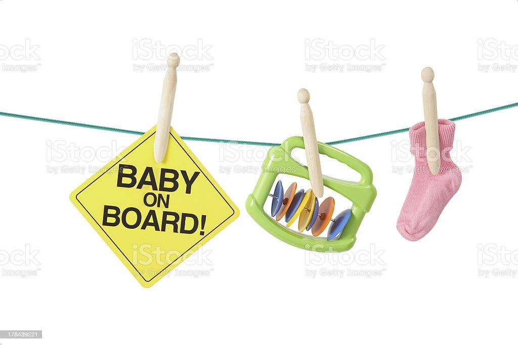 Having baby concept stock photo