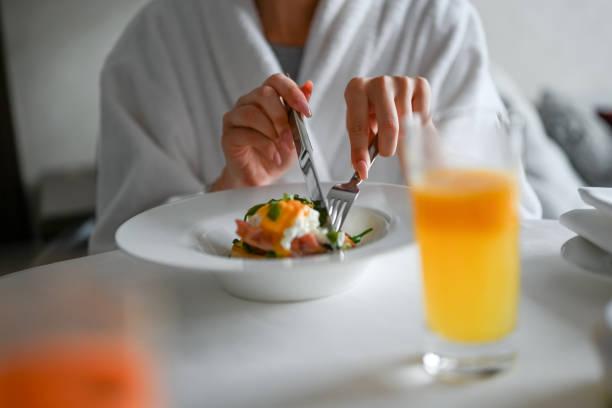 Frühstück im Hotelzimmer – Foto