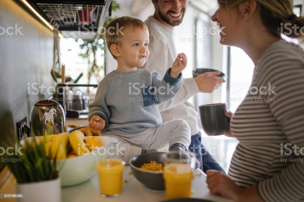 Frühstücken in unserer Küche – Foto