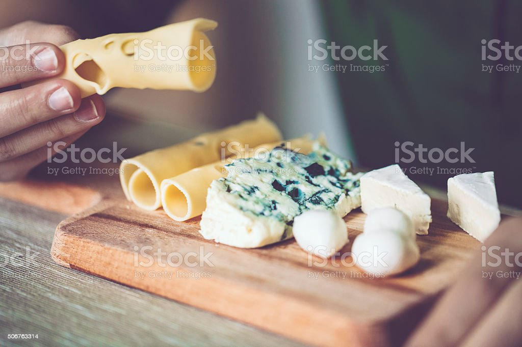 Having breakfast stock photo