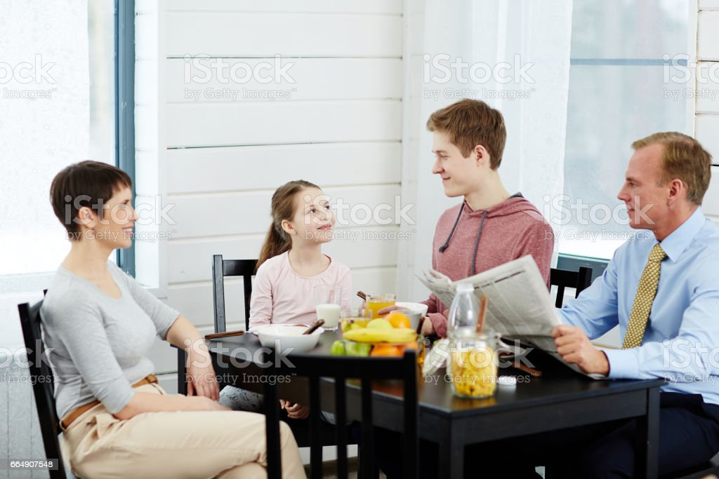 Having breakfast together foto stock royalty-free