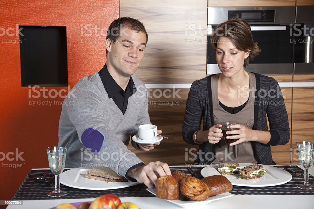 Having breakfast together royalty-free stock photo