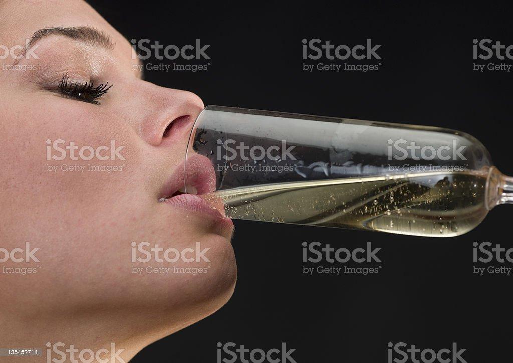 Con champán - foto de stock