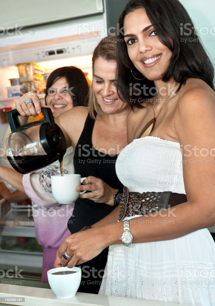 Having coffee royalty-free stock photo