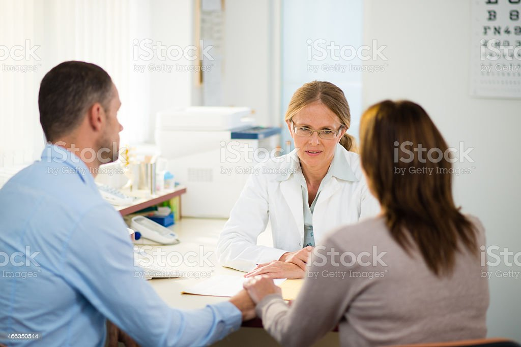 Having Consultation With General Practitioner stock photo