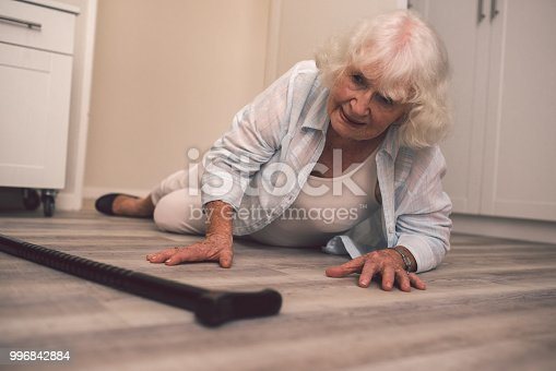 istock Having difficulty staying on her feet 996842884