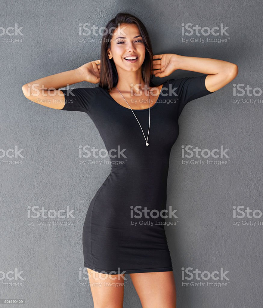 Having fun and feeling sexy stock photo